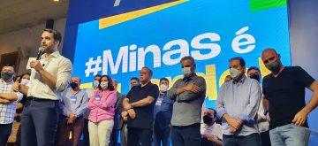 Aécio saúda Eduardo Leite em Minas e diz que tucanos estão unidos no apoio a seu nome nas prévias do PSDB